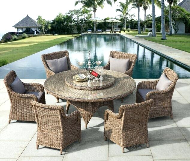 Wicker Chairs Dining Set