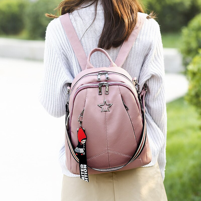 Versatile Leather Backpack