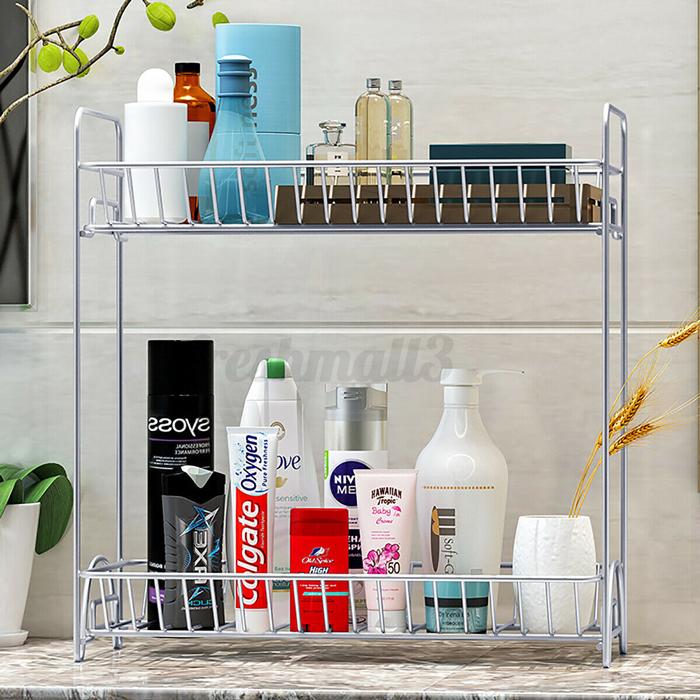 countertop bathroom shelf