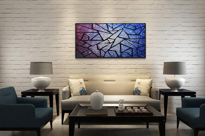 Block wall art