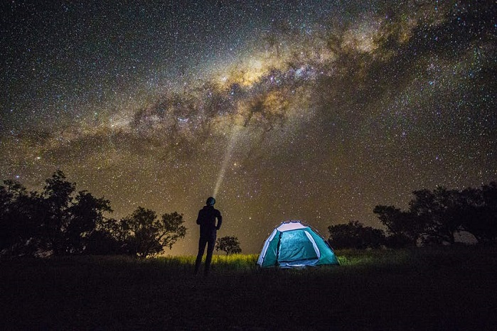 stargazing when camping