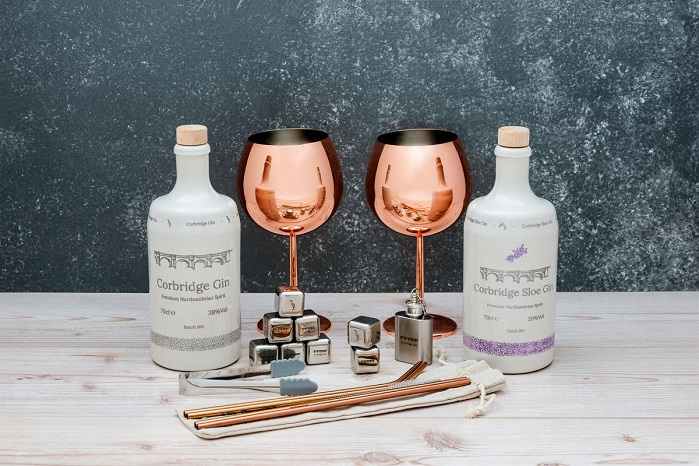 gin and glasses perfect gift combination