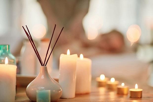 calming bathroom candles