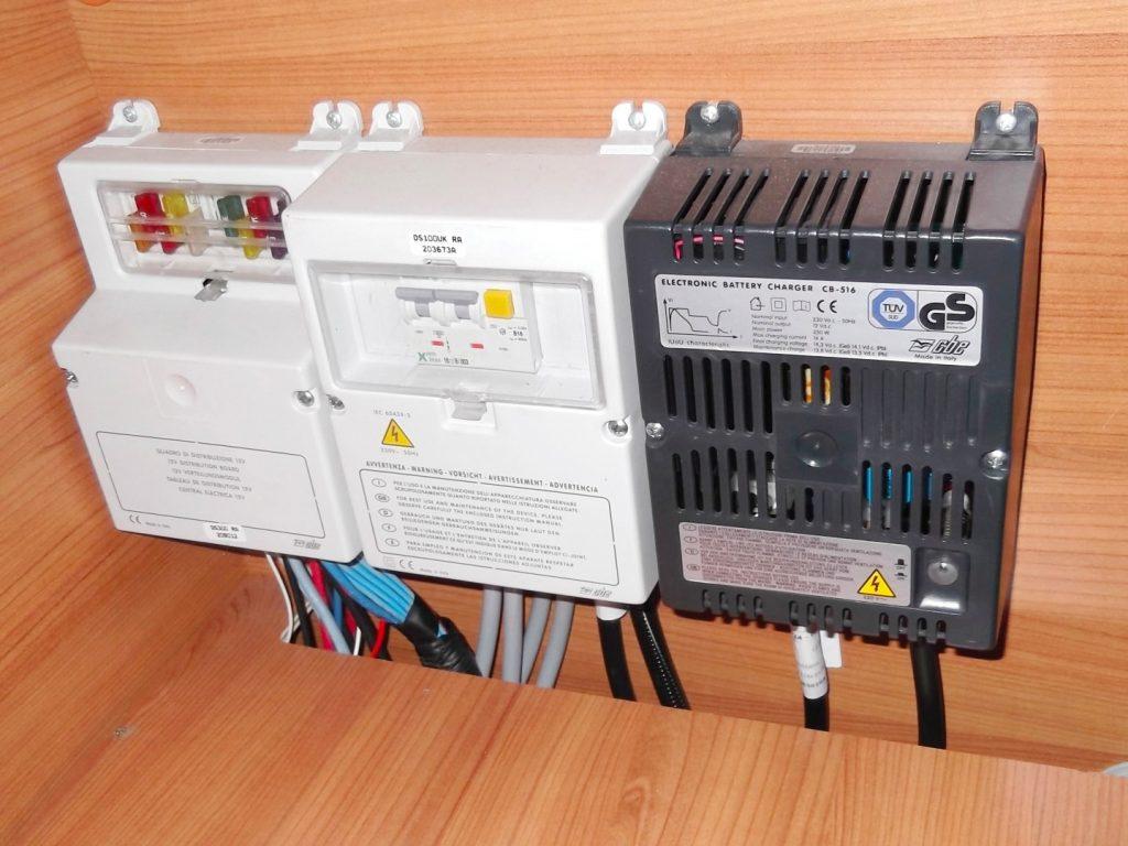 campervan powering batteries