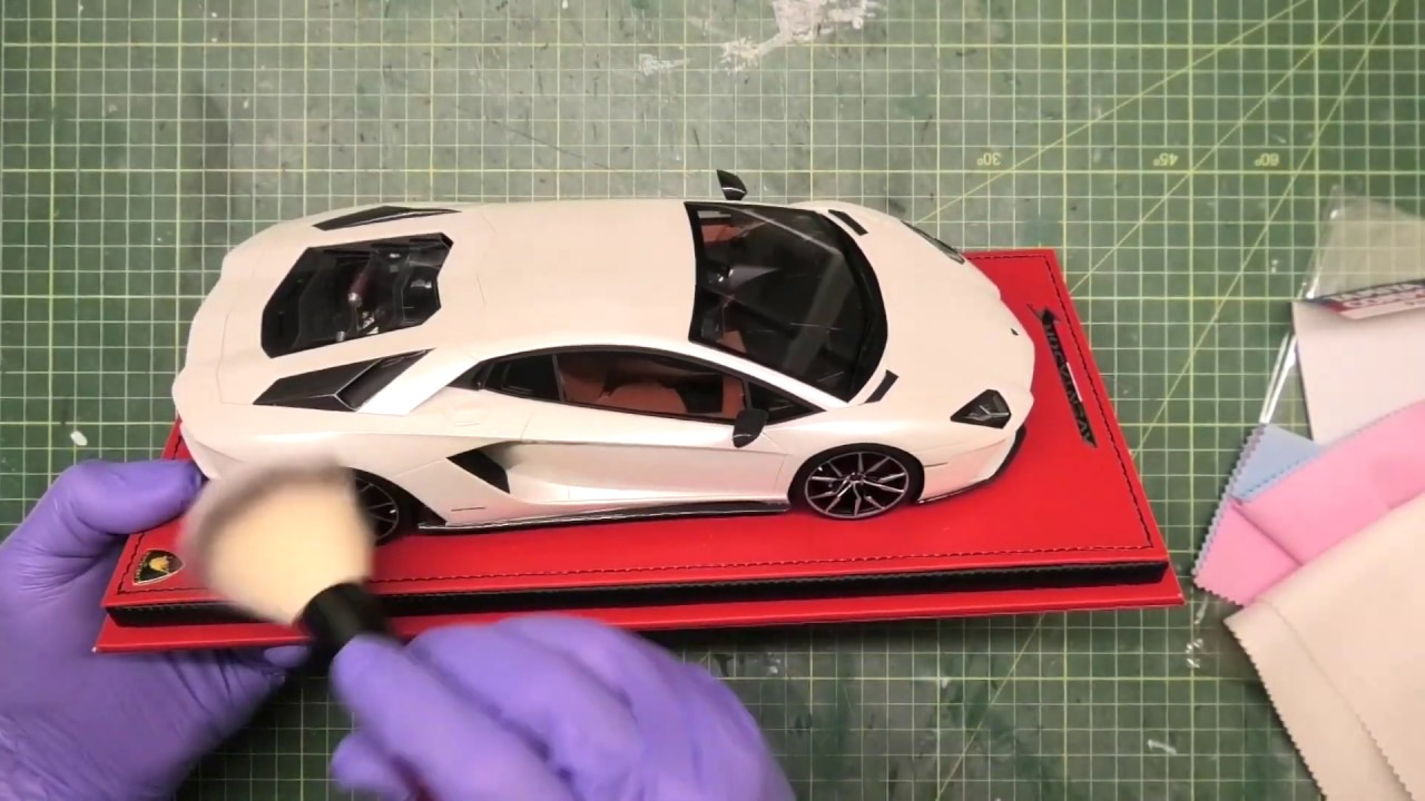 scale model cleaning