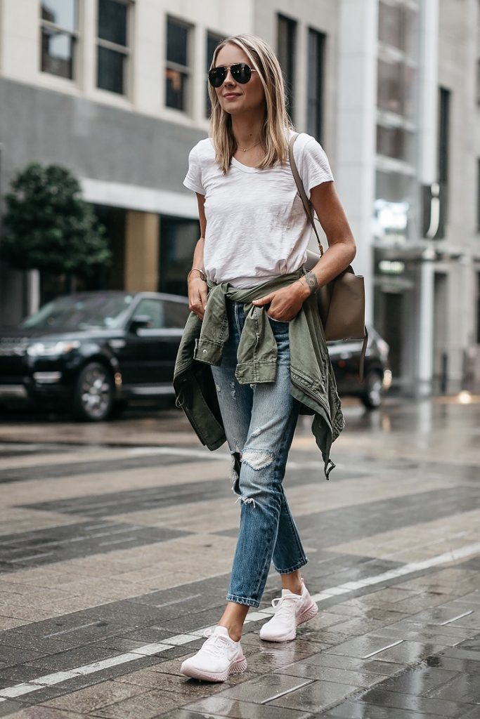 picture of a woman walking on the street