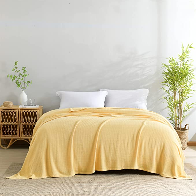 orange Viscose Bamboo Blankets