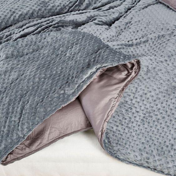 gray bamboo blanket