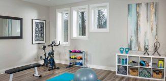 organised home gym